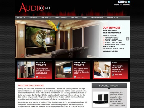 Audio One - Home Page