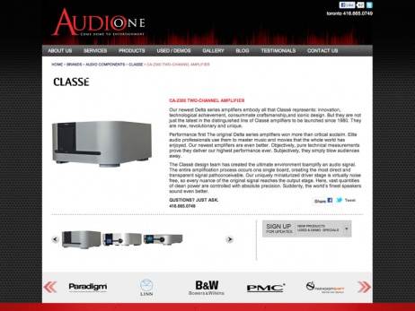 Audio One - Product Page
