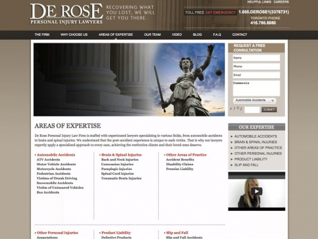 De Rose Personal Injury Lawyers - Our Expertise