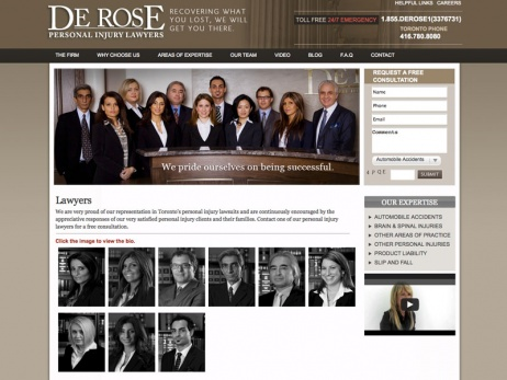 De Rose Personal Injury Lawyers - Lawyers Page