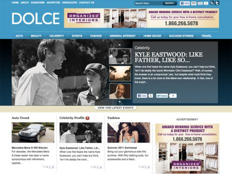 Web design Toronto — Dolce Vita Magazine website.