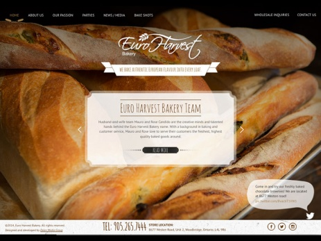 euro harvest bakery homepage