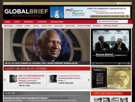Web design Toronto — Global Brief Magazine website
