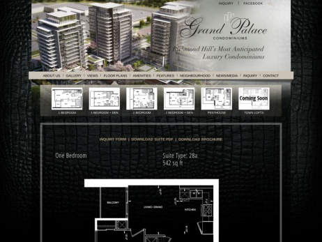 Grand Palace Condominiums - Floor Plan Page