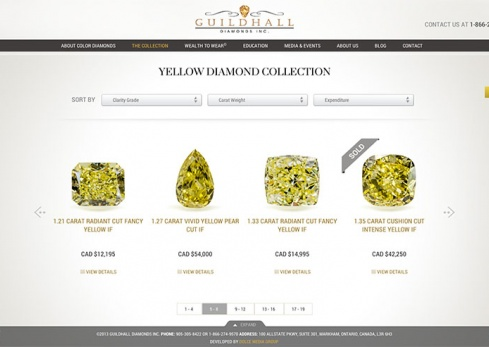 guildhall diamonds the yellow diamond collection