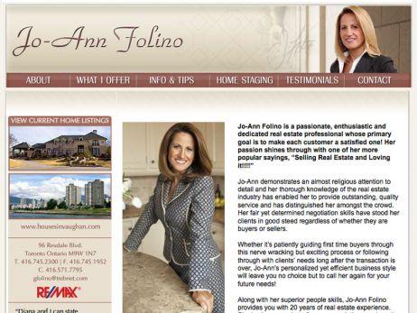 Web design Toronto —  Jo-Ann Folino website