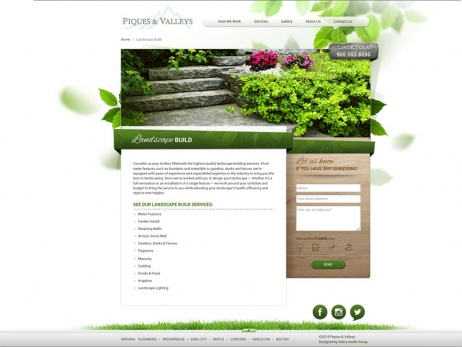 piques and valleys landscape build gallery