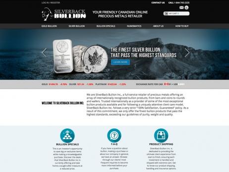 Silverback Bullion Homepage