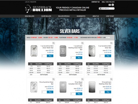 Silverback Bullion Product Page