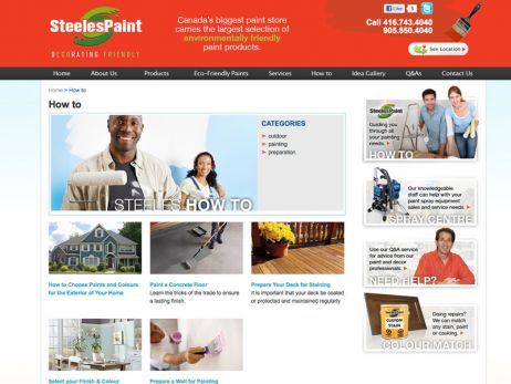 Web design & development for Steeles Paint How To Page