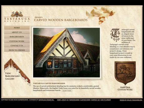 Web design Toronto — Tartaruga Designs\' Carved Wooden Bargeboards website.