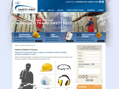 Safety First Consulting Services  - Products Page