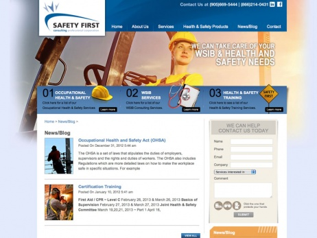 Safety First Consulting Services  - Blog Page
