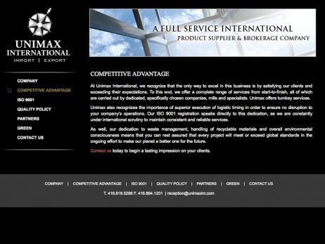 Unimax Advantage Page