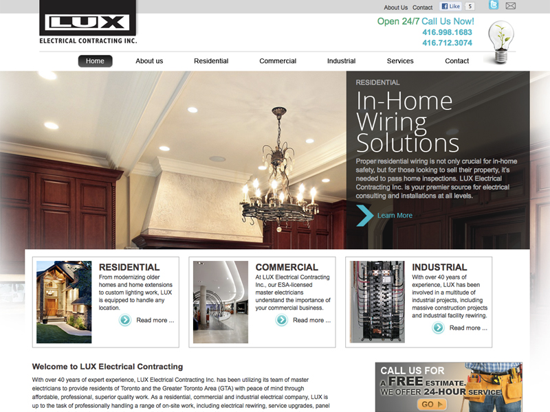 Lux electrical contracting inc for Luxe decor llp
