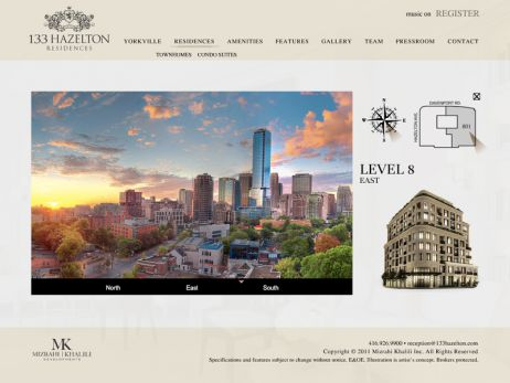 Web design & development for 133 Hazelton Residences Vista Views