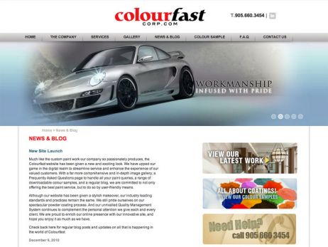 Colourfast Corporate blog page
