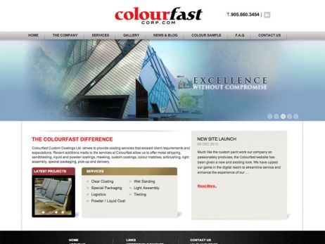 Colourfast Corporate home page