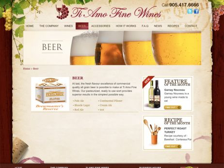 Ti Amo Fine Wines\' Beer Page