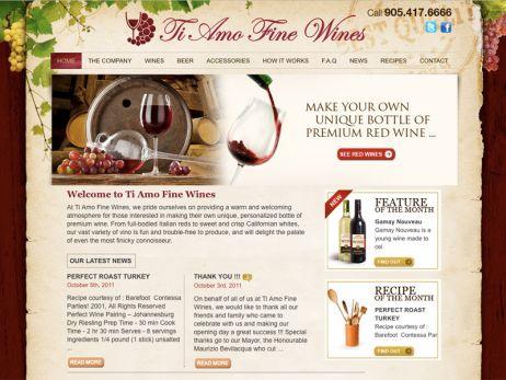 Ti Amo Fine Wines Home Page