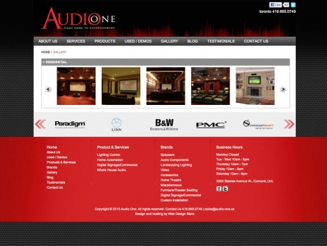 Audio One - Gallery Page