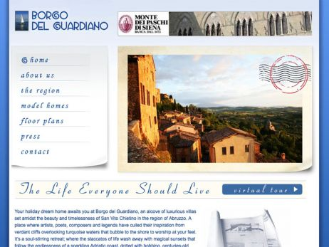 Web design Italy —  Borgo del Guardiano Luxury Villas