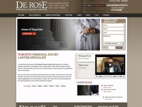 De Rose Personal Injury Lawyers - Home Page
