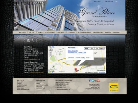 Grand Palace Condominiums - Contact Page