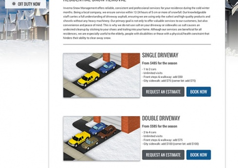inverno snow removal residential services