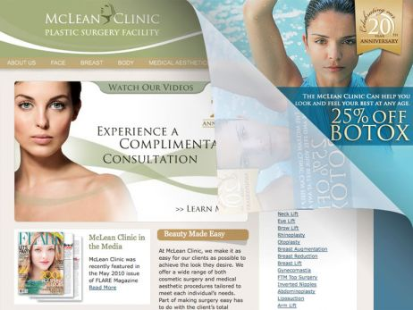 Web design Toronto — McLean Clinic website.