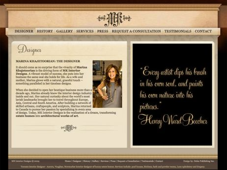 Web design Toronto — MK Interior Designs