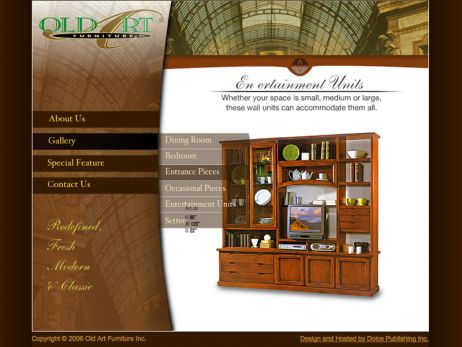Web design Toronto — Old Art Furniture Inc.