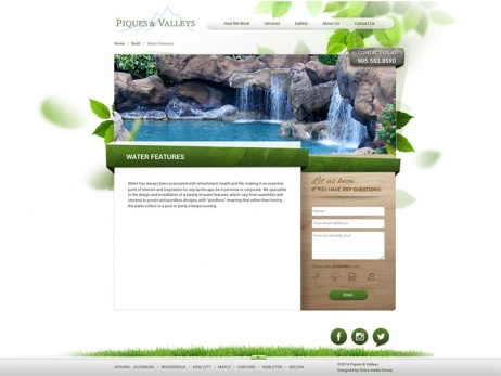 piques and valleys build water features gallery