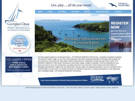 Web design Georgian Bay —  Port McNicoll website