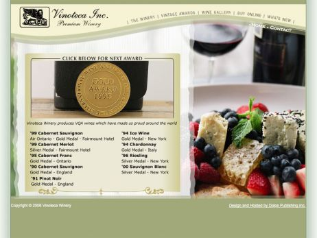 Web design Toronto —  Vinoteca Inc. Premium Winery