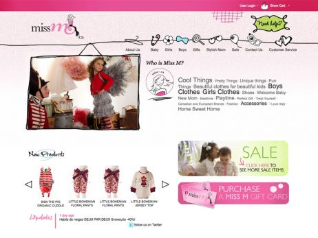 Miss M home page
