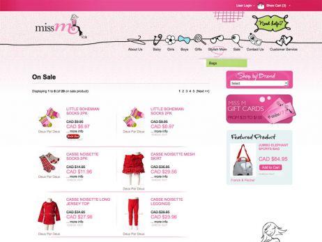 Miss M sale page