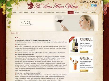 Ti Amo Fine Wines FAQ Page